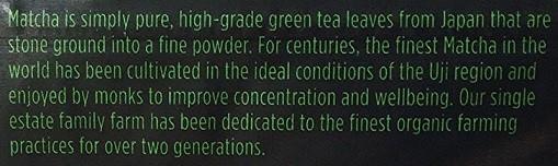 Organic Japanese Matcha green tea powder [Jade Leaf]