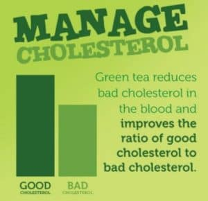 Manages & Reduces Overall Cholesterol - Green Tea Health Benefit