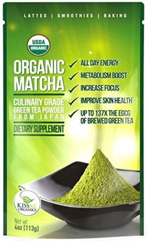 KissMe Organics Matcha Green Tea Powder