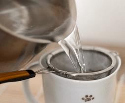 Preparing Green Tea to reduce its caffeine content